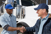 Truck Drivers Shaking Hands